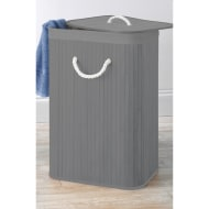 Bamboo Laundry Hamper - Grey