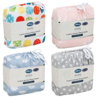 Silentnight Cot Bed Printed Fitted Sheets 2pk
