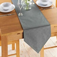 Karina Bailey Linen Look Runner 33 x 183cm - Grey
