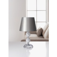 Zoe Mosaic Table Lamp - Silver