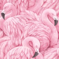 Rasch Flamingoes Wallpaper - Pink