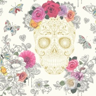 Rasch Sugar Skulls Wallpaper