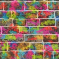 Rasch Graffiti Brick Wallpaper