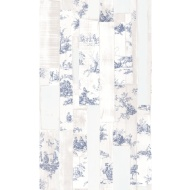 Rasch Toile Wallpaper - Blue