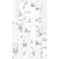 Rasch Toile Wallpaper - Grey