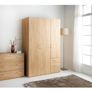 hansberg 3 door wardrobe - Bedside Table Cheap