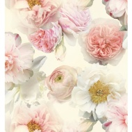 Arthouse Diamond Bloom Floral Wallpaper - Blush