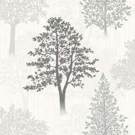 Arthouse Diamond Tree Wallpaper - Mono