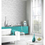 Arthouse Manhattan Brick Wallpaper - White