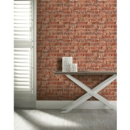 Arthouse Urban Brick Wallpaper - Red