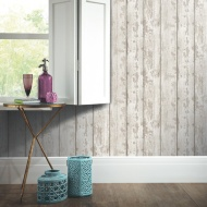 Arthouse White Washed Wood Wallpaper