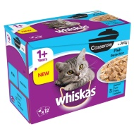 Whiskas Casserole Cat Food - Fish Selection 12pk