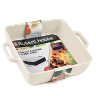 Russell Hobbs Square Oven Dish 26cm - Cream
