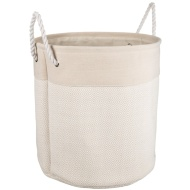 Oversized Diamond Laundry Hamper - Natural