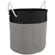 Oversized Diamond Laundry Hamper - Black