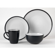 Russell Hobbs Black Two-Tone Dinner Set 16pc