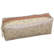 Glimmer Pencil Case - Gold Glitter