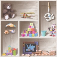 Debona Playroom Kids Glitter Wallpaper