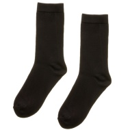 Kids School Socks 8pk - Black