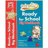 Gold Stars Ready for School Big Workbook 3-5 Years