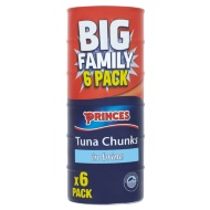 Princes Tuna Chunks in Brine 6pk