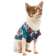 Hawaiian Dog Shirt - Blue