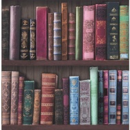 Graham & Brown Bookshelf Wallpaper