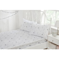 Metallic Stars Rotary Print Fitted Sheet - Single