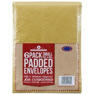 Small Padded Envelopes 6pk