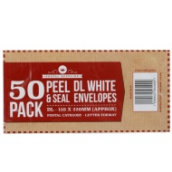 DL White Envelope 50pk