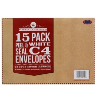 C4 White Envelopes 15pk