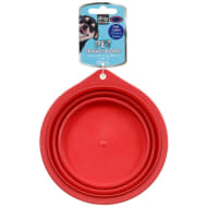 Collapsible Pet Travel Bowl - Red