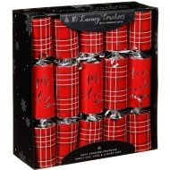 Luxury Gift Crackers 10pk - Red