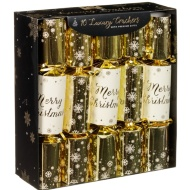 Luxury Gift Crackers 10pk - Gold