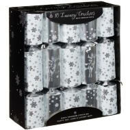 Luxury Gift Crackers 10pk - Silver