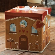 Giant Christmas Gift Box with Bow & Tag