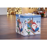 XL Christmas Gift Box with Bow & Tag - Sleigh