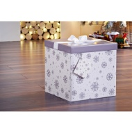 XL Christmas Gift Box with Bow & Tag - Snowflake