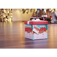 Medium Christmas Gift Box with Bow & Tag - Elf Head