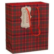 Medium Christmas Fashion Gift Bag 3pk - Tartan