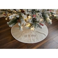 Embroidered Christmas Tree Skirt - Let it Snow