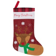 Rustic Christmas Character Stocking - Reindeer