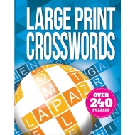 Large Print Puzzle Book - Crosswords