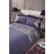 Veronica Velvet Panel with Metallic Detail - Double