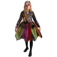 Girls Deluxe Halloween Costume Ages 8-10 - Sugar Skull