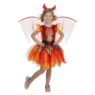 Girls Halloween Sequin Outfit Ages 5-7 - Devil Fairy