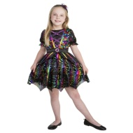 Girls Halloween Sequin Outfit Ages 5-7 - Rainbow Witch