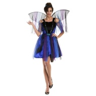Ladies Winged Halloween Outfit - Blue Fairy
