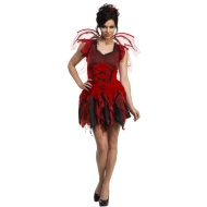 Ladies Winged Halloween Outfit - Red Fairy