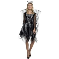 Ladies Winged Halloween Outfit - Dark Angel